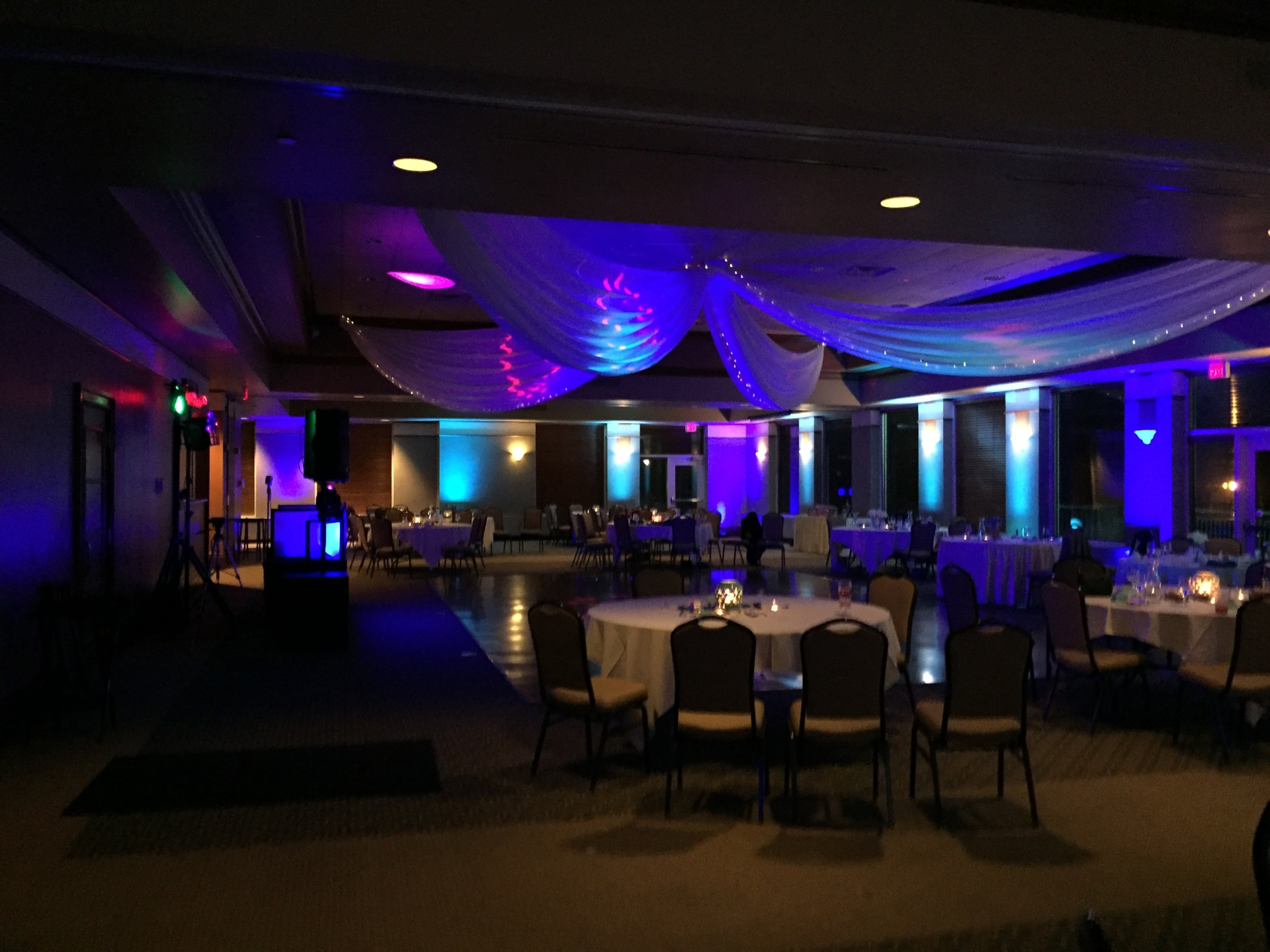 Sand Creek Country Club, Chesterton Up lighting, Arrested Sounds Wedding DJ