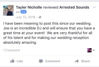 Arrested Sounds Sand Creek Country Club Chesterton Wedding Review