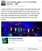 Arrested Sounds wedding DJ Review Chesterton